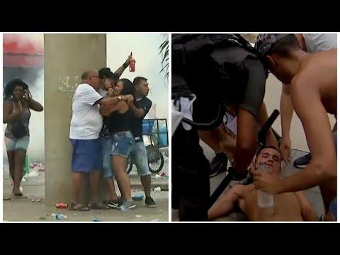 شاهد: أعمال عنف تفسد أجواء نهائي كأس غوانابارا البرازيلي …