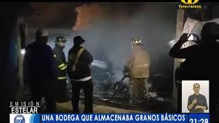 Una bodega se incendió en Quetzaltenango
