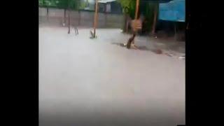 Lluvias causan inundaciones en San Miguel Chicaj