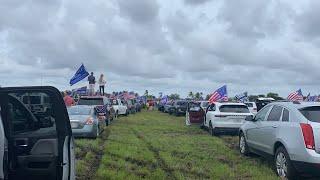 Gigantesca caravana en Miami en apoyo a Donald Trump