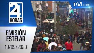 Noticias Ecuador: Noticiero 24 Horas, 19/09/2020 (Emisión Estelar)