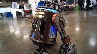 Steampunk R2 D2 at Maker Faire Austin