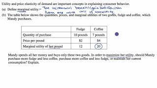 Utility maximization example