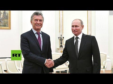 connectYoutube - Putin y Macri se dan un apretón de manos durante su reunión en Rusia