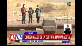 Los misterios y riquezas de Tiahuanacu. La Red Bolivisión estuvo en el recorrido