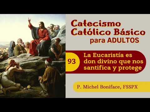 93 La Eucaristia es don divino que nos santifica y protege