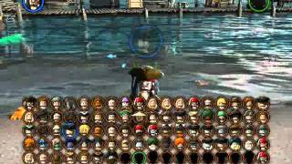 Lego Pirates Of The Caribbean The Video Game - All Playable Characters Unlocked!