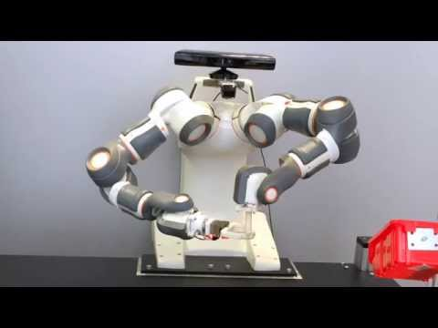 Constraint-based sensorless force control with dual arm ABB robot