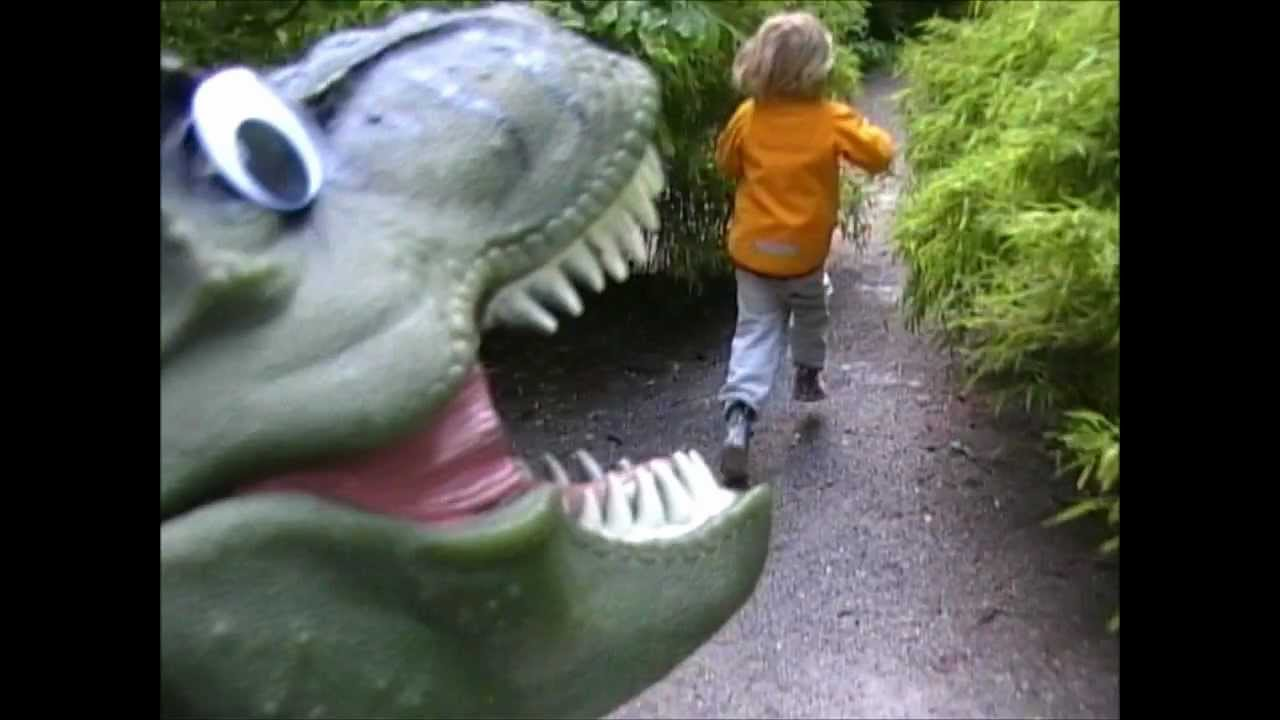 RUNNING FROM A T-REX - music video FOR KIDS - Dinosaur Songs by Daddy Donut
