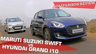 2018 Maruti Suzuki Swift vs Hyundai Grand i10 (Diesel) Comparison Review | Best Small Car Is...