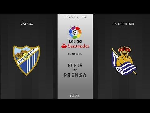 Rueda de prensa Málaga vs R. Sociedad
