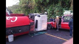 Habilitan carril tras choque en Ruta Cito Zarco