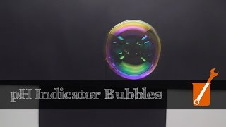 pH indicating soap bubbles (Ben Krasnow - new channel name!)
