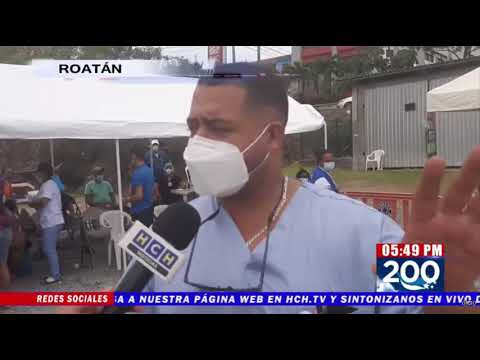 Con éxito desarrollan jornada de Vacunación en Roatán