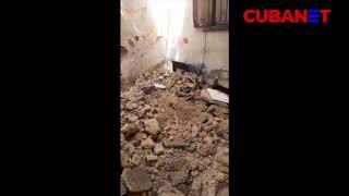 Cuba: familia de La Habana vive, literalmente, entre escombros