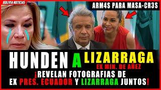 ¡CA-EN GOLPIS-T4S! REVE-LAN FO-TOS DE LIZARRAGA CON PRESD. DE ECUADOR. TRAJ3-RON AR-M4S MASA-CR3S
