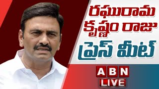 YCP MP Raghu Rama Krishnam Raju Press Meet LIVE || ABN - ABNTELUGUTV