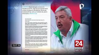 """Beingolea renunció a la presidencia del PPC al """"no alcanzar los objetivos"""""""