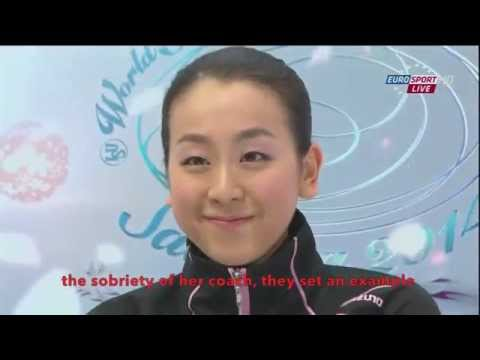 [ENG SUB] Spanish Commentary: Mao Asada (JPN) SP - Worlds 2014
