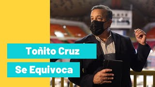 Gerardo Toñito Cruz vuelve a equivocarse