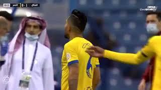 ردة فعل بيتروس بعد إلغاء هدف النصر ضد الهلال