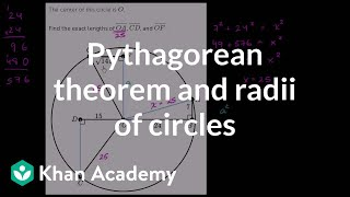 Pythagorean theorem and radii of circles