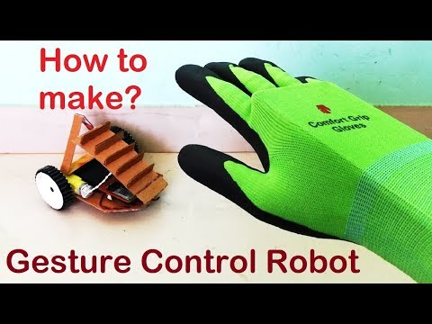 Step by step guide to make a Gesture control robot
