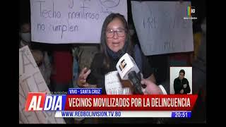 Vecinos movilizados por la delincuencia en Santa Cruz