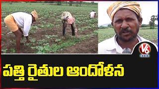 Cotton Farmers Facing Troubles In Nalgonda   V6 News - V6NEWSTELUGU