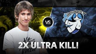 Double Ultra kill by Dendi vs mYinsanity @ StarSeries XI