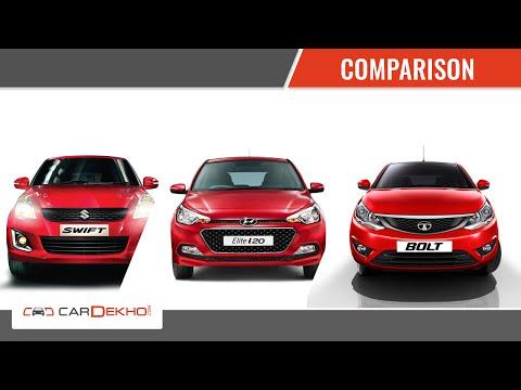 Maruti Swift vs Tata Bolt vs Hyundai Elite i20   Video Comparison Tata Videos