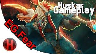 EG.Fear 6437 MMR Huskar Gameplay Dota 2