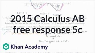 2015 AP Calculus AB 5c