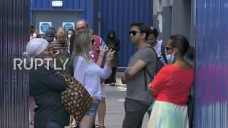 UK: Long queues form outside London IKEA as it reopens for first time in weeks