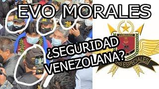 EVO MORALES PROTEGIDO POR VENEZOLANOS