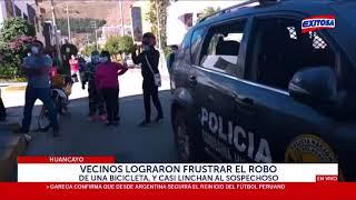 Huancayo: Vecinos logran frustrar el robo de una bicicleta, y casi linchan al sospechoso