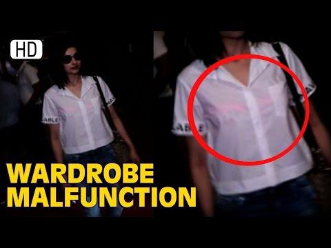 Prachi Desai Suffers Wardrobe Malfunction