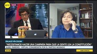 """Susel Paredes: """"que falta de amor por la patria para votar por personas ligadas a la delincuencia"""""""