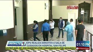 OPS realiza donativo a sala de cuidados en el Hospital San felipe