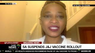Minister Mkhize's briefing on suspension of J&J vaccine in SA