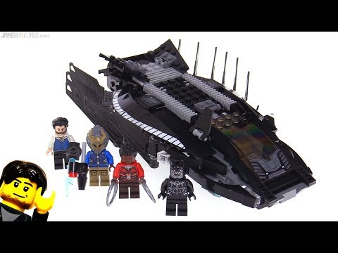 connectYoutube - LEGO Black Panther Royal Talon Fighter Attack review! 76100