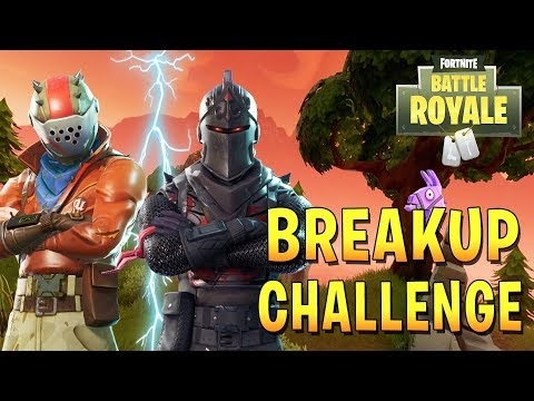 THE BREAKUP CHALLENGE w/Biffle?! (Fortnite Battle Royale Gameplay)
