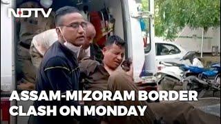 Watch: At Assam-Mizoram Border, 6-Hour Battle Between 2 Police Forces - NDTV