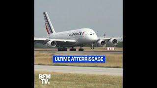 Le dernier vol d'un A380 d'Air France pour les salariés