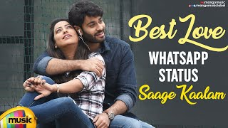 Best Melodies WhatsApp Status Video | Saage Kaalam Song | Shivan Telugu Movie | Sai Teja | Taruni - MANGOMUSIC
