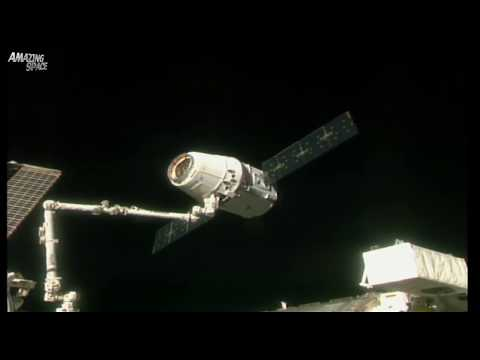 SpaceX Dragon leaving the International Space Station