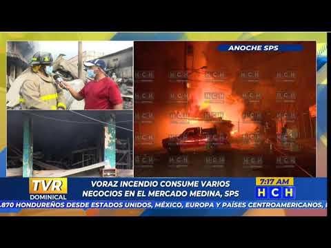 ¡Pérdidas millonarias!Al menos 30 locales comerciales fueron pasto de las llamas en  barrio  Medina