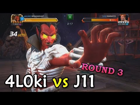 connectYoutube - Alliance War: 4L0ki -vs- J11 | Mephisto, Spark, Blade | Marvel Contest of Champions