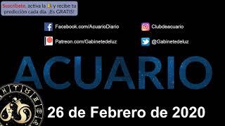 Horóscopo Diario - Acuario - 26 de Febrero de 2020