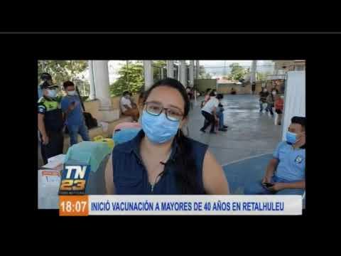 Inició vacunación a mayores de 40 años en Retalhuleu